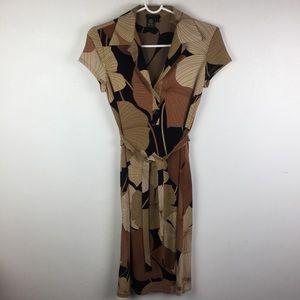 BCBG MAXAZRIA Floral Print Tie Waist Dress